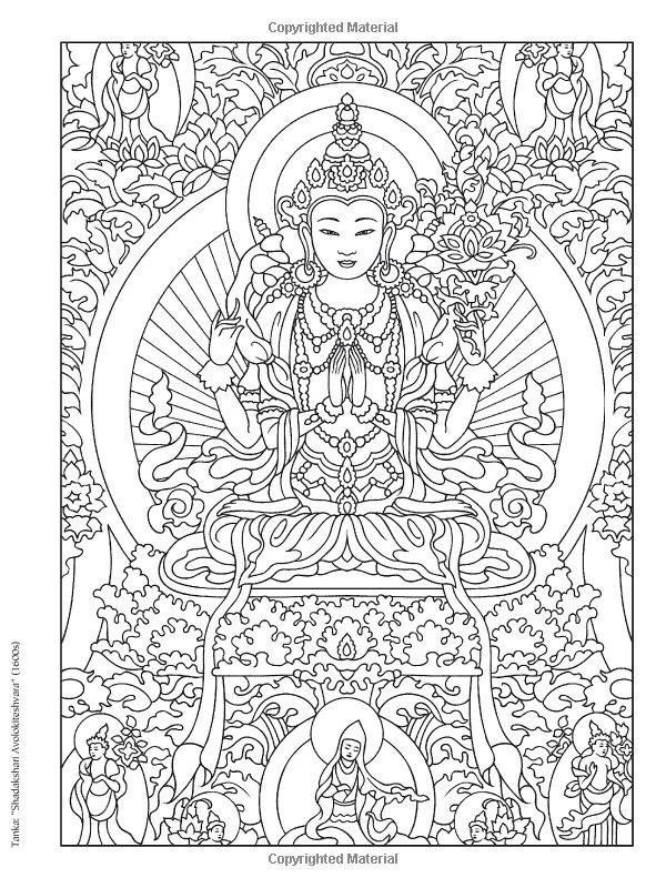 Buddha | Fargelegging | Pinterest | Buddha, Coloring books and Adult ...