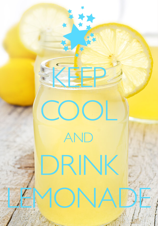 keep cool and drink lemonade / created with Keep Calm and