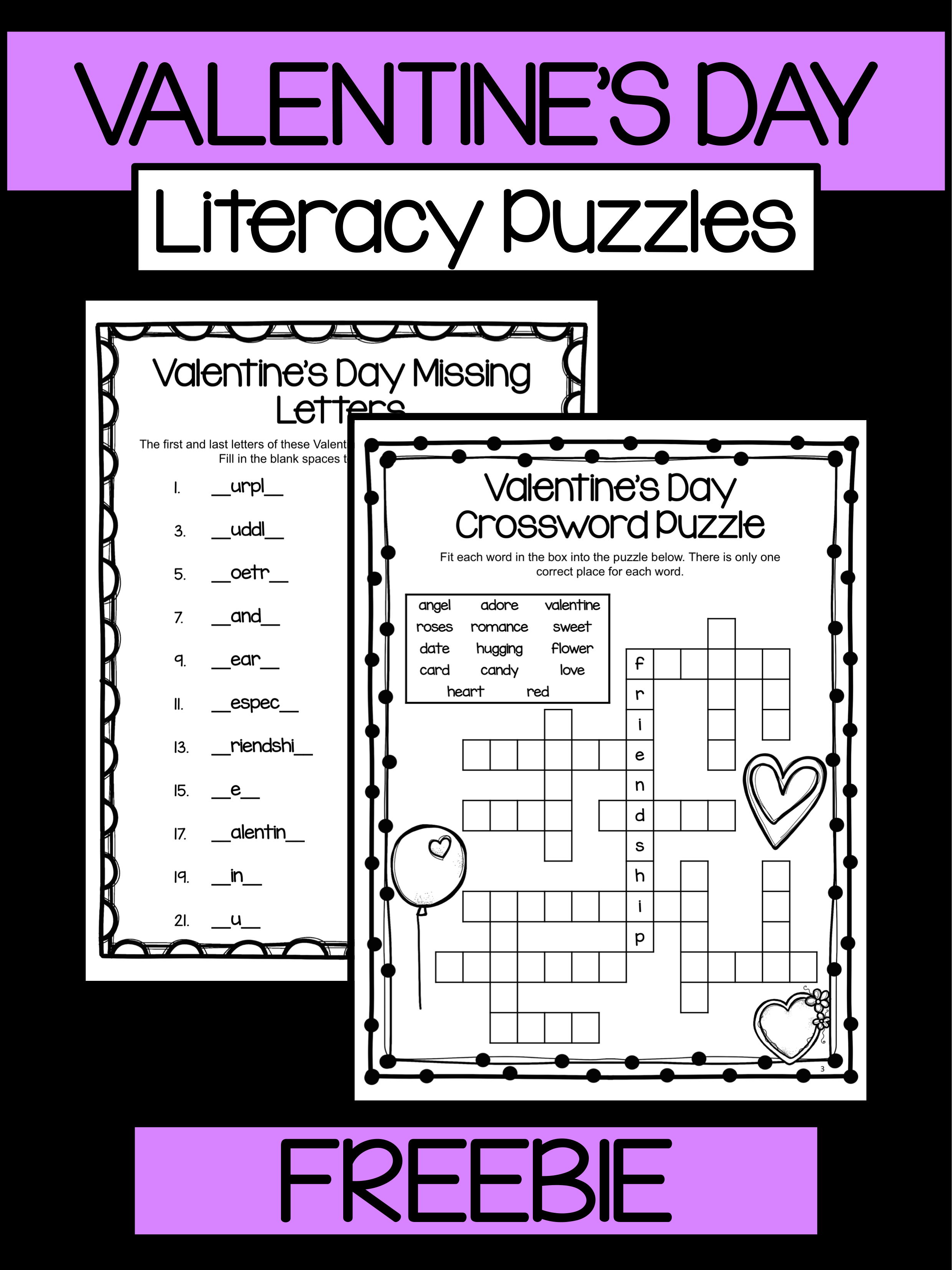 Valentine S Day Free Valentine S Day Activities Literacy