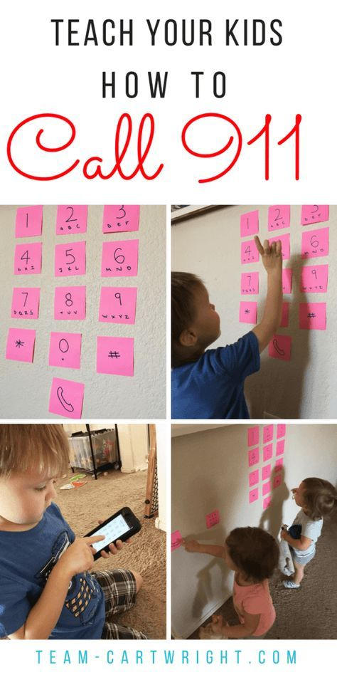 How To Teach Kids to Call 911 in the Cell Phone Age #911craftsfortoddlers
