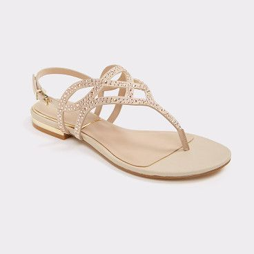 413f4b8dcb27 Raeni by ALDO. Dazzle on sunny days in this sparkling thong sandal ...