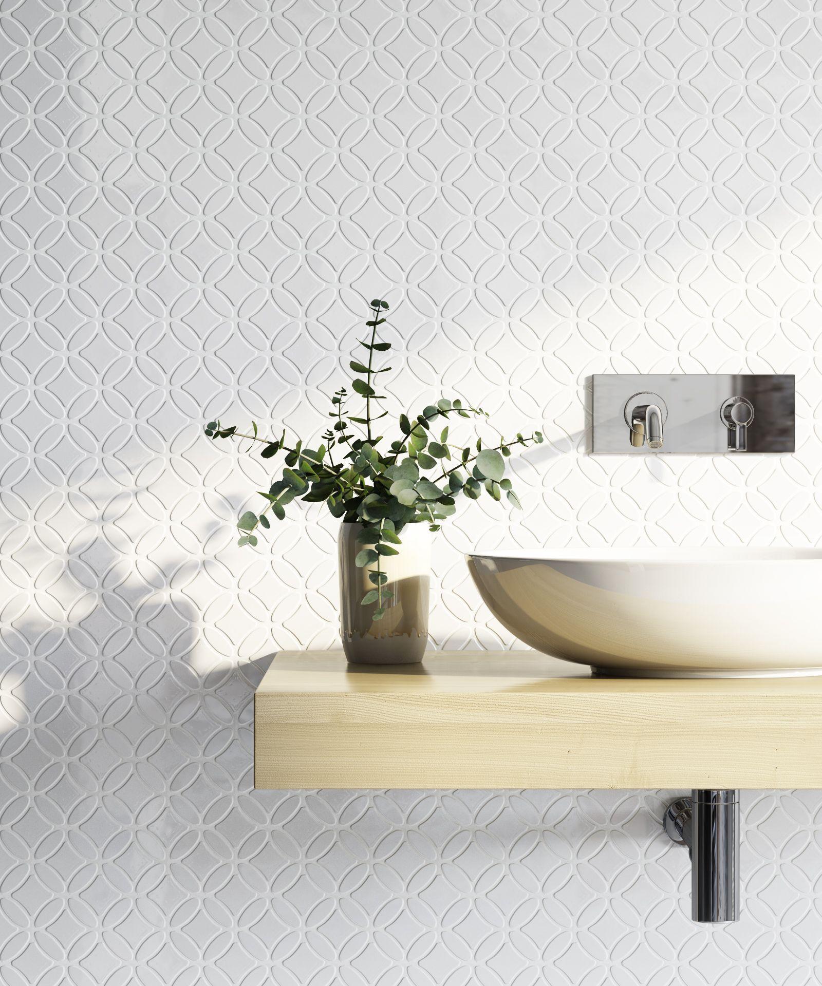 Pyrmont Gloss Round Mosaic White Tile Tilecloud Bathrooms Available Tilecloud Com Au Circle Tiles Tiles Penny Round Tiles
