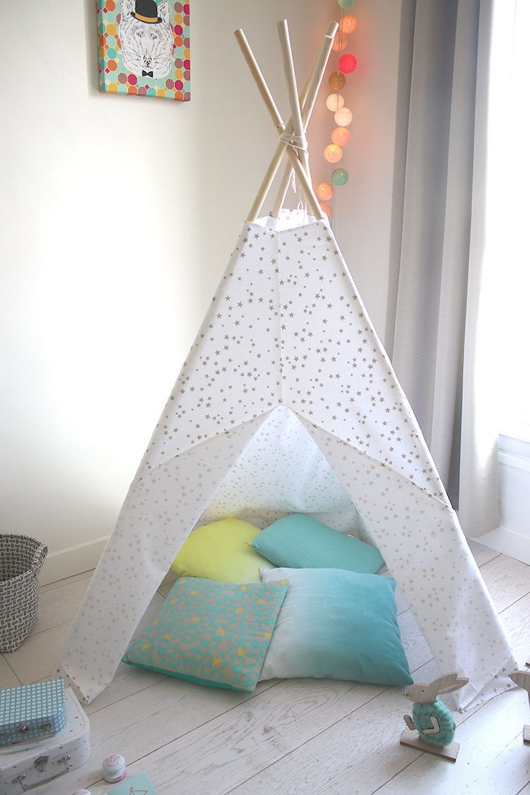 le tuto du tipi enfant accessoires tissu tipi enfant. Black Bedroom Furniture Sets. Home Design Ideas