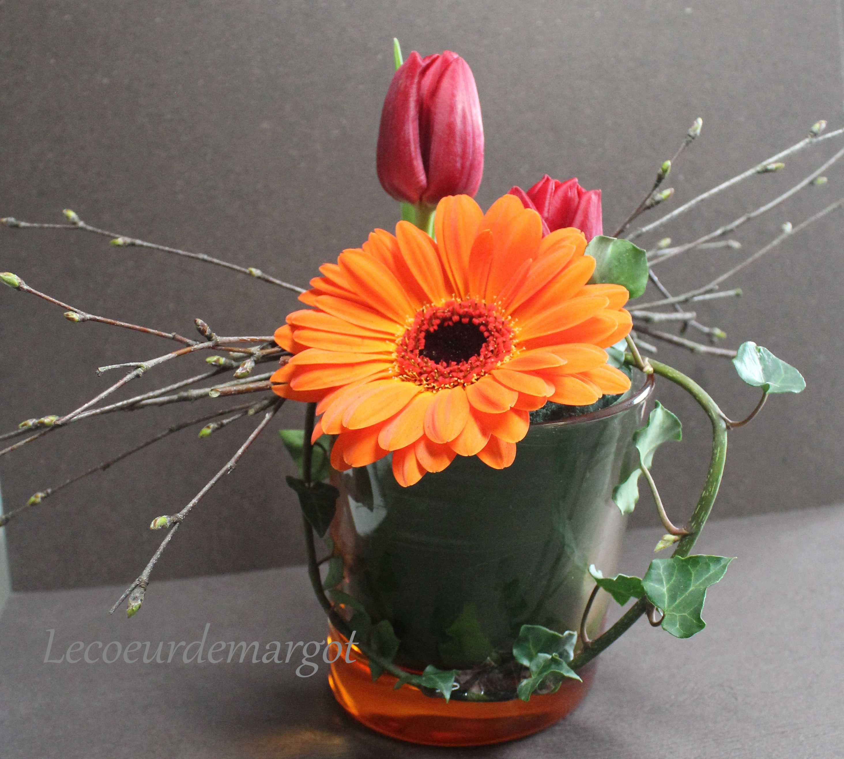 art floral petite compo orang e compo pinterest art floral le coeur et coeur. Black Bedroom Furniture Sets. Home Design Ideas