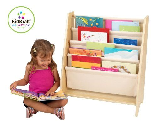 Kidkraft Sling Bookshelf Natural 14221 Book Shelves NaturalGetting Children Excited About Reading Isnt Always A Simple