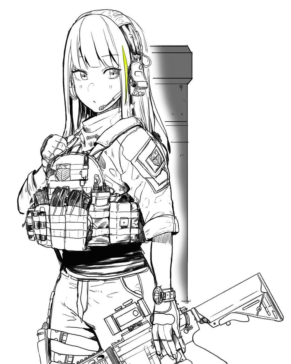 일호붓 on Anime military, Girls frontline, Character design