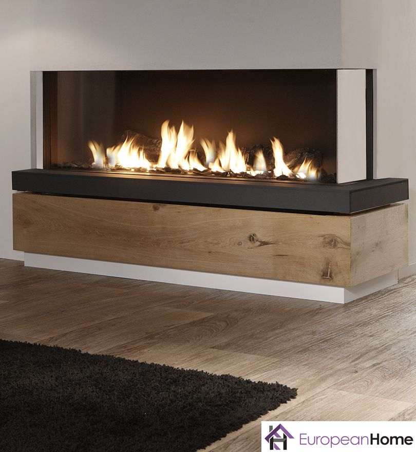The Bidore 140 By Element4 And Distributed By European Home Is A Stunning Frameless Linear Right Or Left Corn Corner Fireplace Gas Fireplace Modern Fireplace