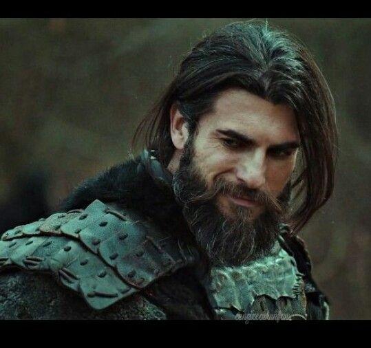 Pin By H K Tactical On Dirilis Actors Turkish Actors Long Hair Beard Turkish Beauty