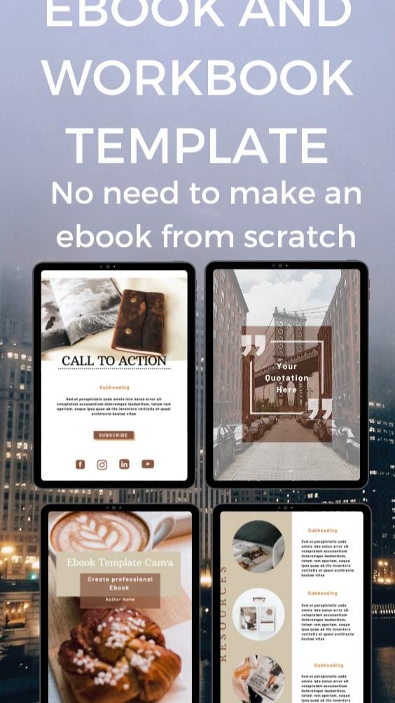 eBook template Canva. Canva template. Blogger temp