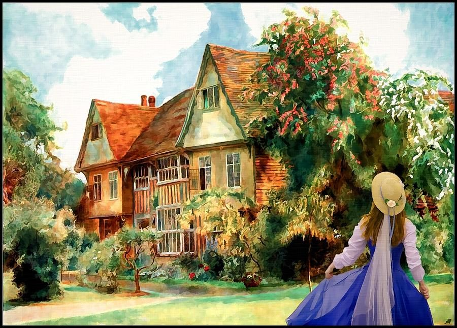 My English Country Garden Painting