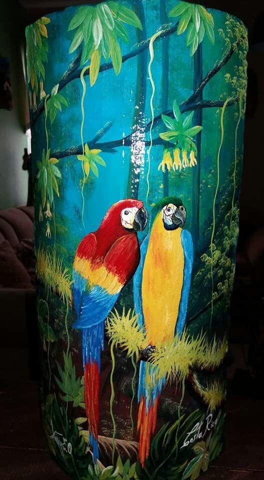Lapas en tejas tejas decoradas watercolor paintings painting e watercolor - Pintar tejas de barro ...