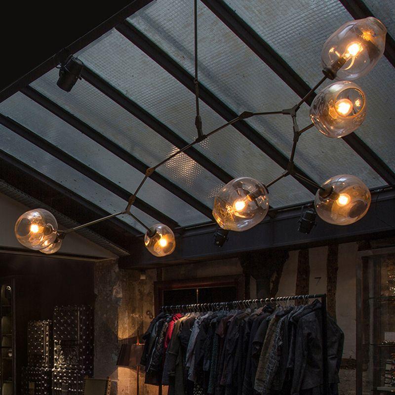 Branching bubble ceiling lights retro loft vintage for Suspension luminaire 4 lampes