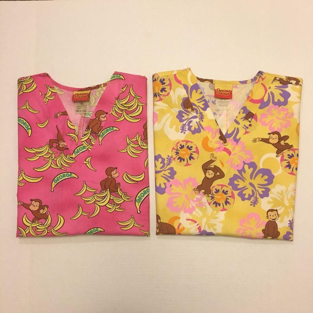 Scrubs Dickies Women/'s Print V-Neck Top Line Fleur Fun DK702 IFUR