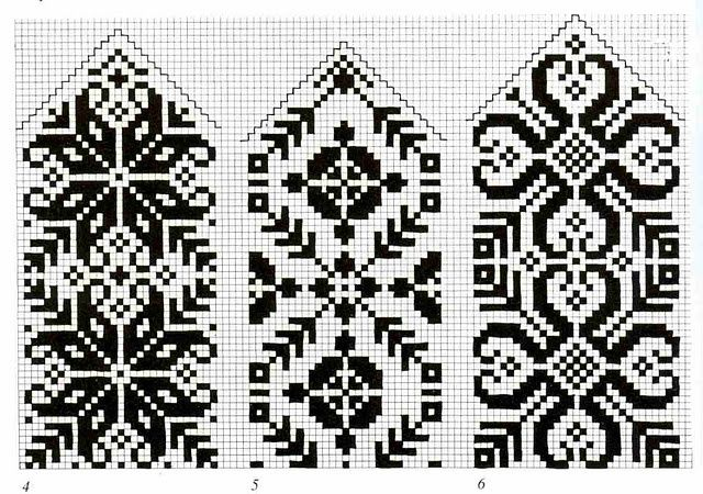 Traditional Norwegian Knitting Patterns Selbu Mittens 1 Vrhorns