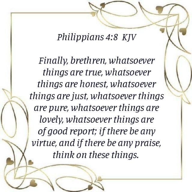 Philippians 4 8 Kjv One In Christ Wisdom Bible King James