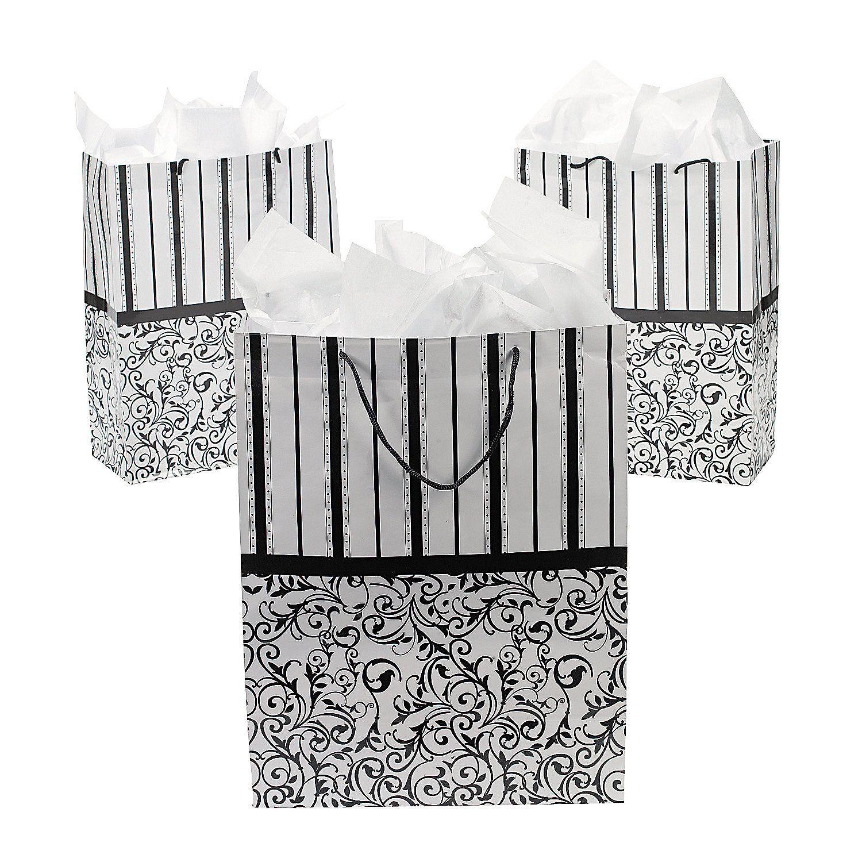 Large Black & White Wedding Gift Bags | Weddings, Classic weddings ...