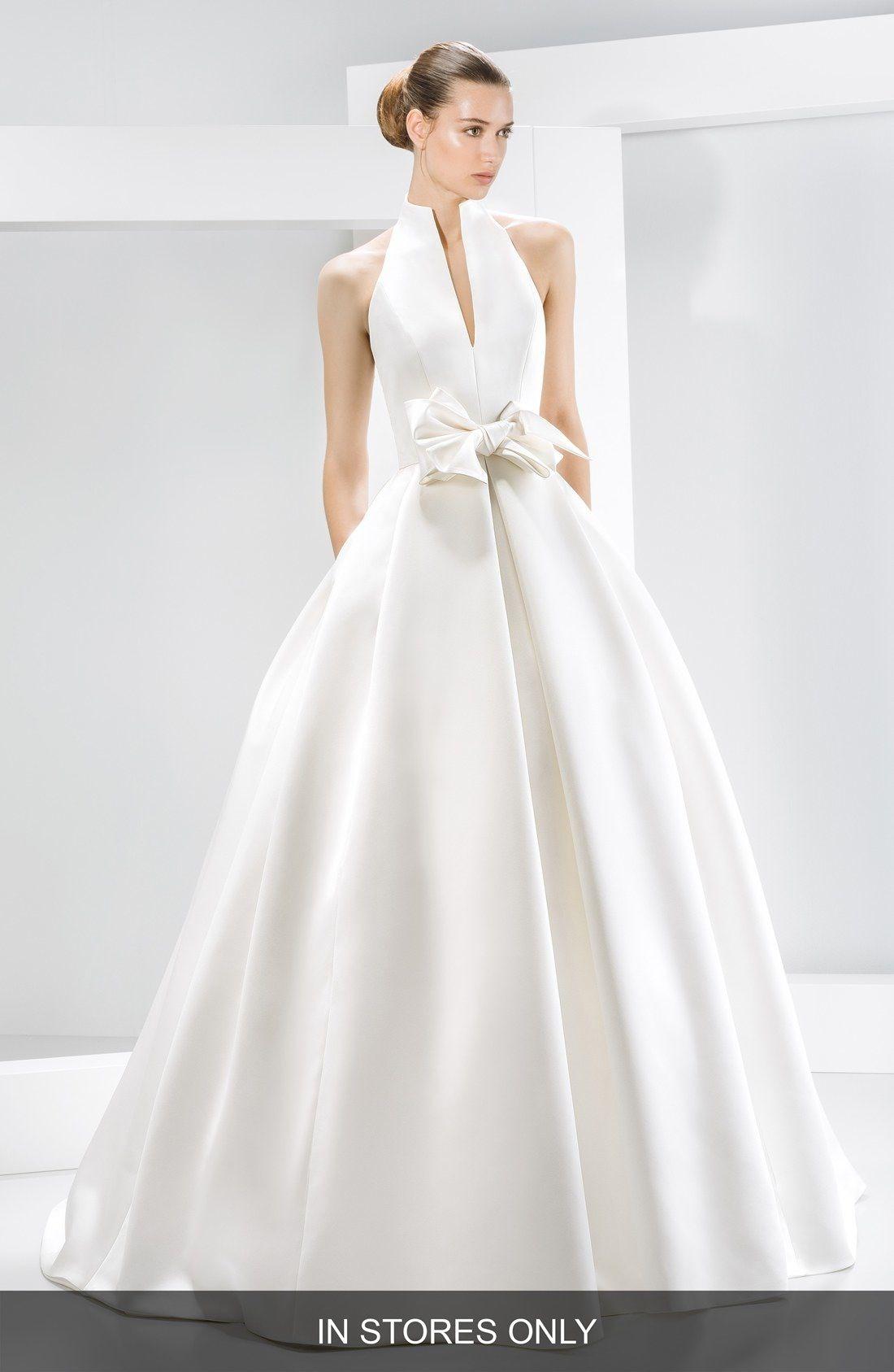 Bow Detail Satin Halter Dress