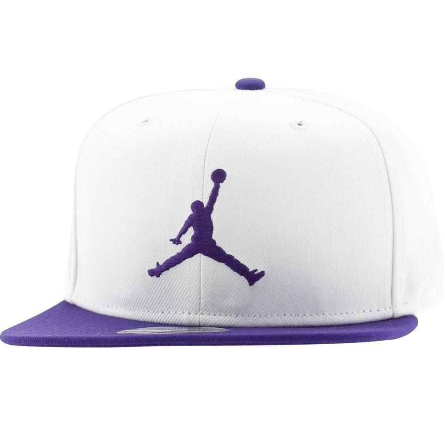 37585442f3ac Jordan Jumpman Snapback Cap (white   purple) 513405-107 -  28.00 ...