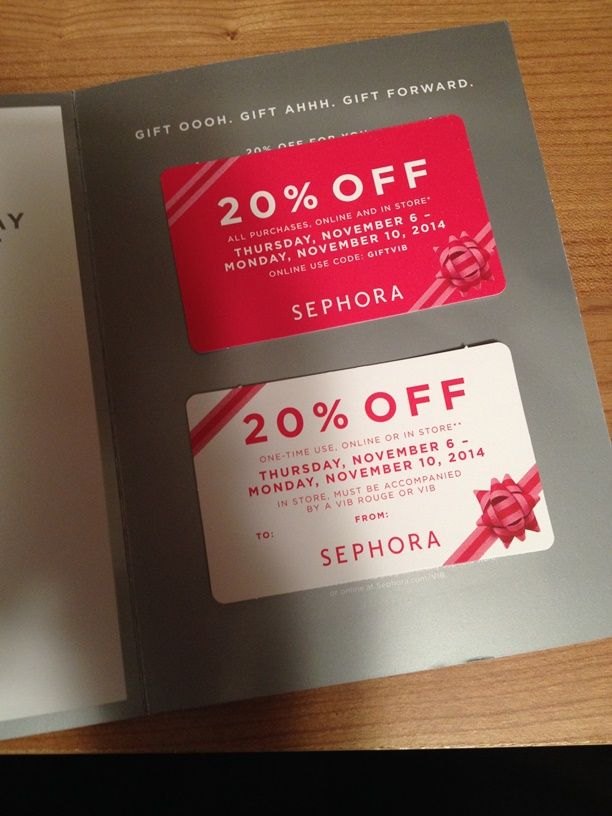collection coupon code sephora 20 coupon code for the vib holiday shopping event