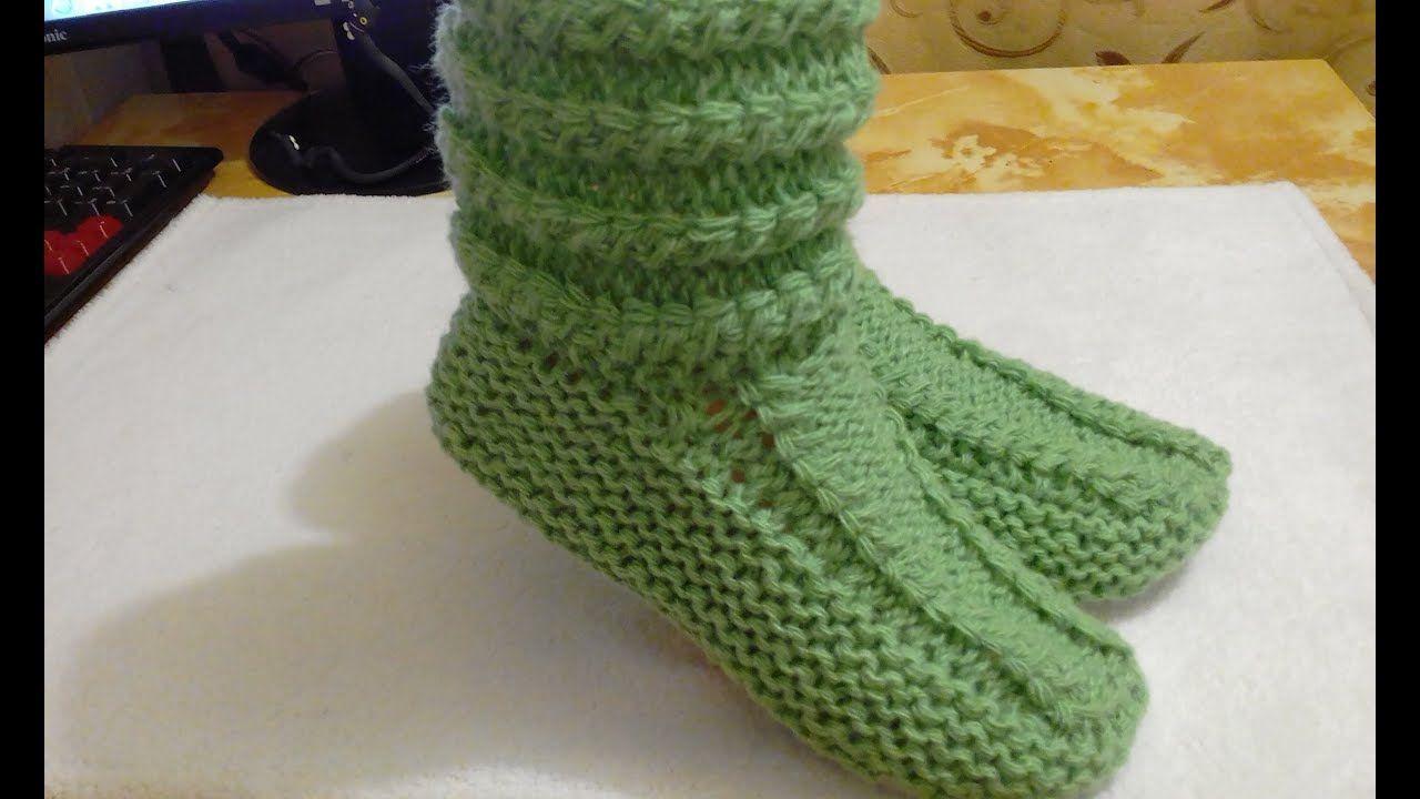 Вязать носки двумя спицами схемы