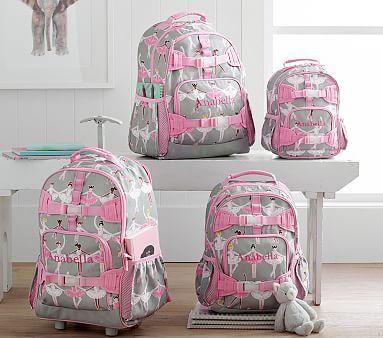 Pottery Barn Kids Glitter Ballerina Mackenzie Large Backpack