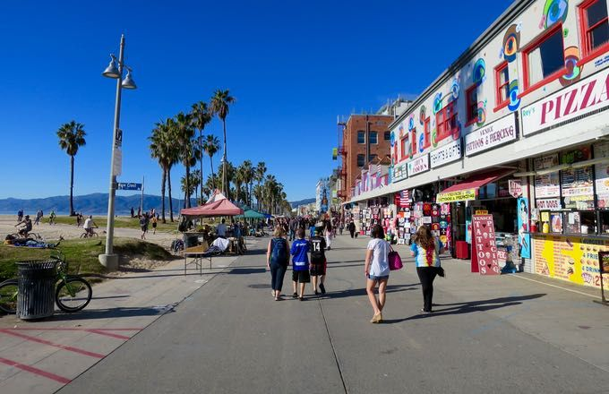 Good Weather For A Visit In Los Angeles Venice Beach Visit California Venice Beach Venice Beach California