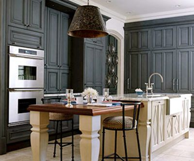 Colorful Kitchen Cabinetry Gray Stained Cabinets Gray Kitchens - Dark gray stained cabinets