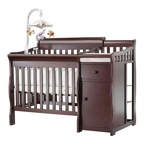 Attractive Sorelle Camden Mini Crib With Changer   Merlot   C International   Babies R  US. Canu0027t Decide If We Want To Go With A Standard Crib Or One With An  Attached ...