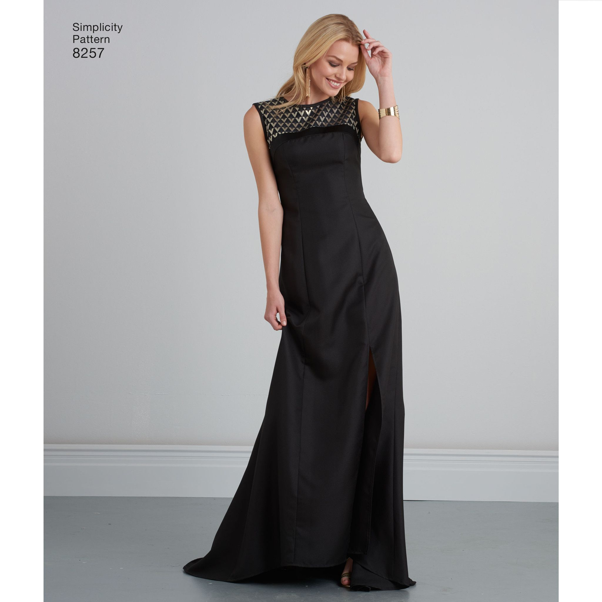 054988a1fbbb S8257 Misses  Special Occasion Dresses and gown Simplicity Pattern ...
