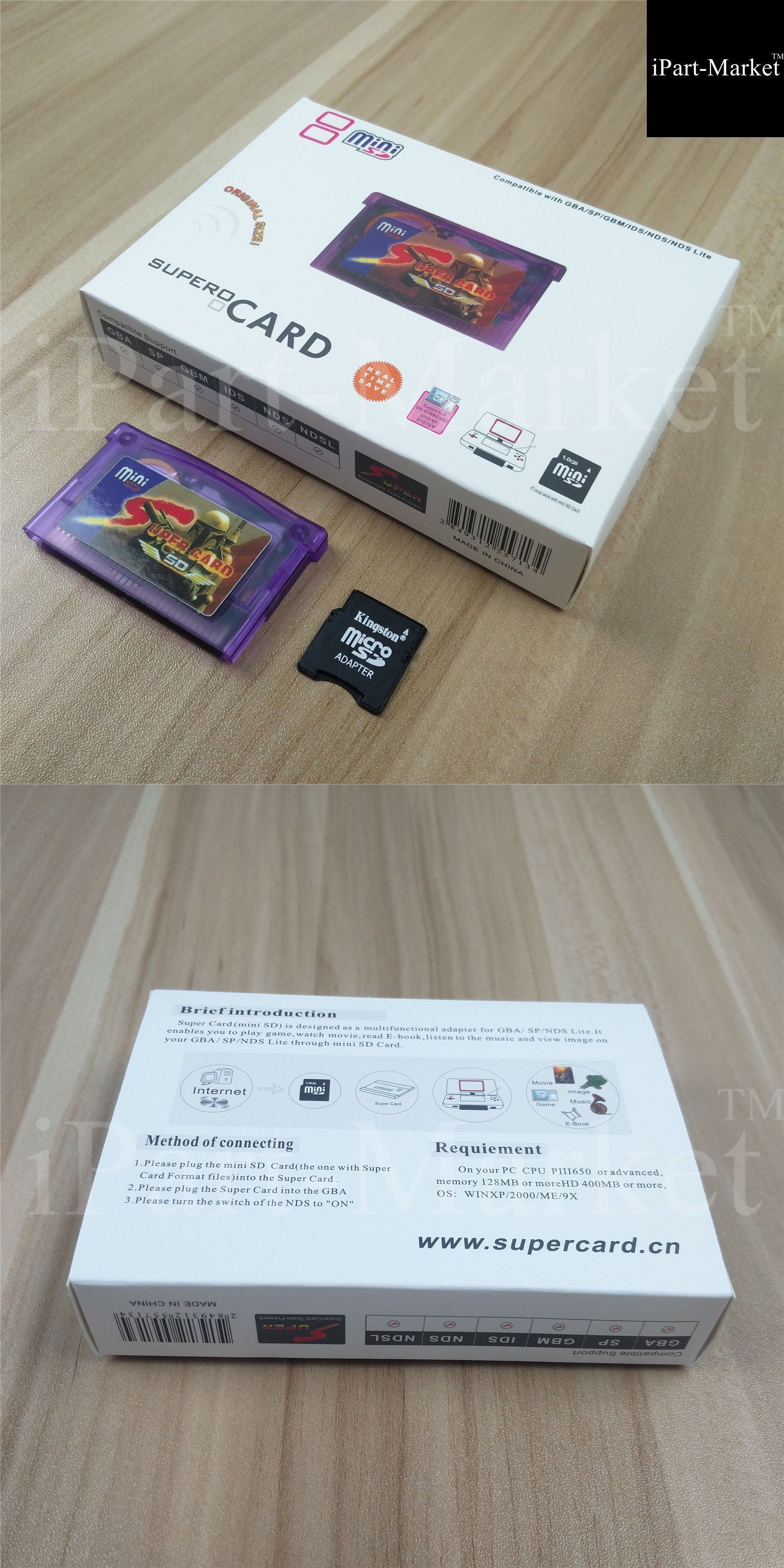 Other Video Accessories 49230 Supercard Mini Sd Flash Card Adapter Cartridge 2gb For Gba Sp Gbm Ids Nds Ndsl It Now Only 15 99 On Ebay
