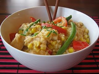 Spicy Coconut Chicken Curry... Weight Watchers Points Plus = 10 (6 servings, 12 for 5 servings)