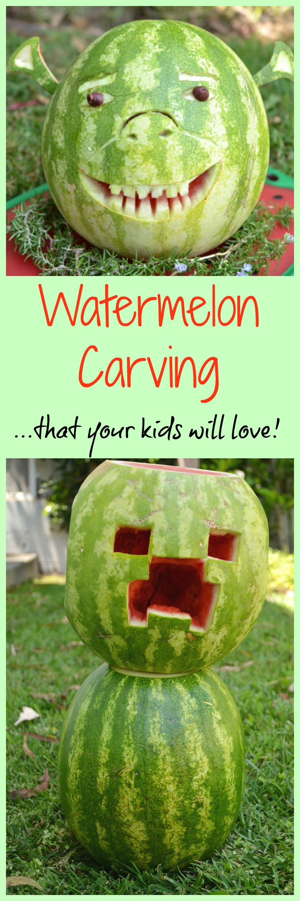 Summer Watermelon Carving - Jolly Tomato