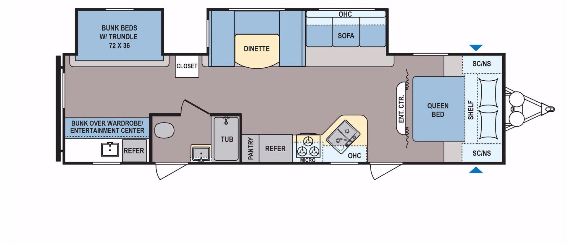 Coleman 314bh In Production Only Floorplan Details Coleman