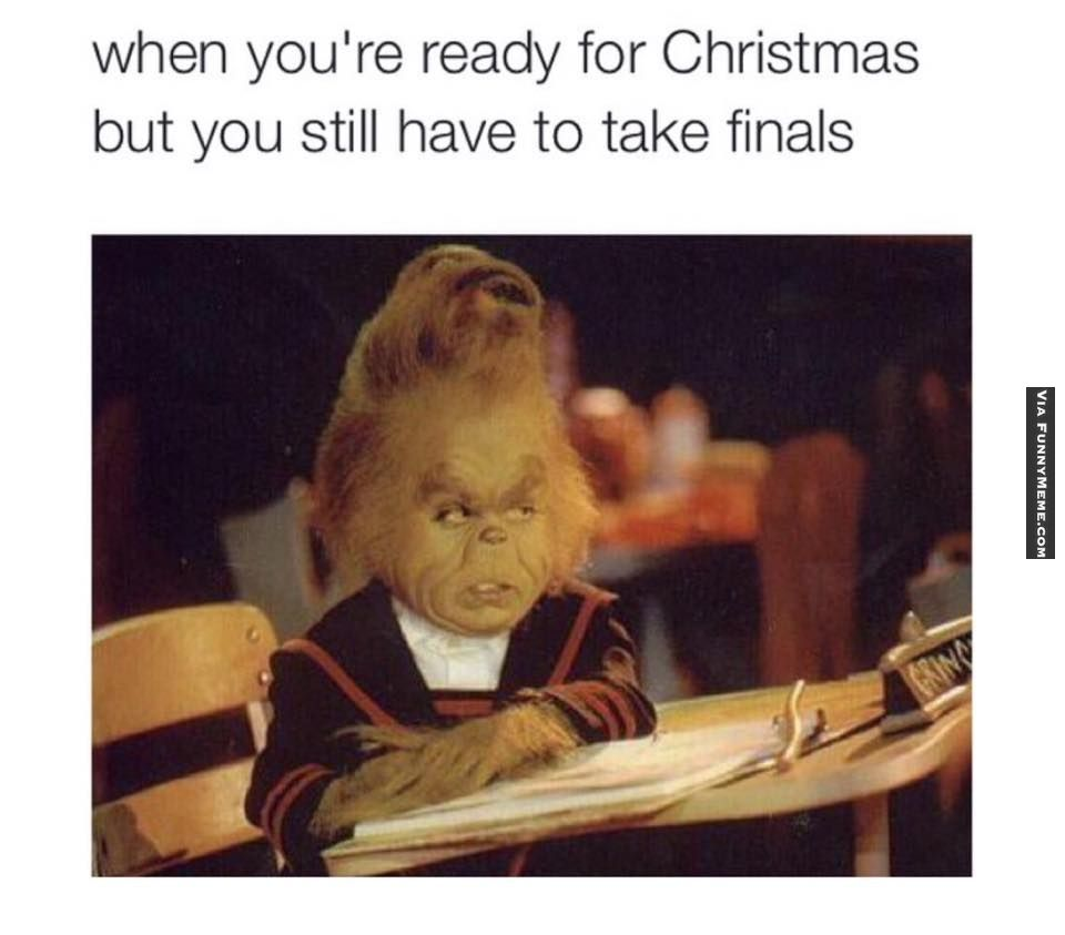 Finals Quotes Funny Memes Ready For Christmas During Finals Quotes