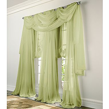 Jcp home lisette rod pocket sheer window treatments - Jcpenney bathroom window curtains ...