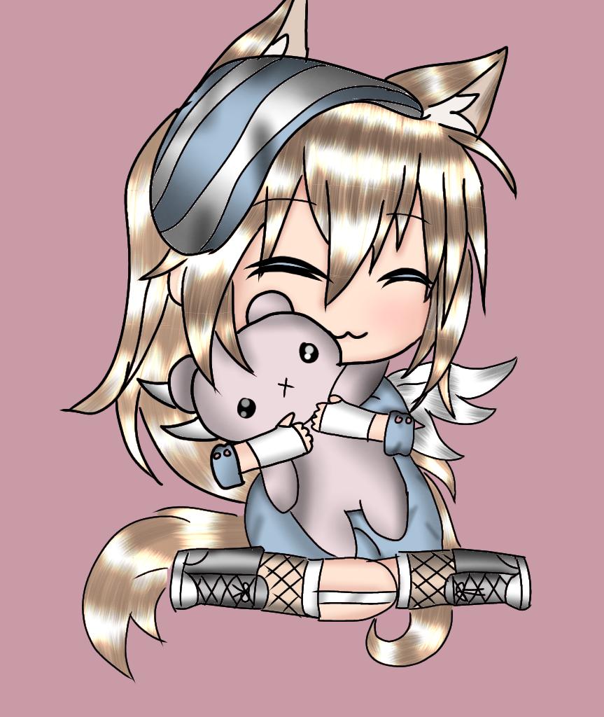 Cute Anime Chibi, Anime Wolf Girl