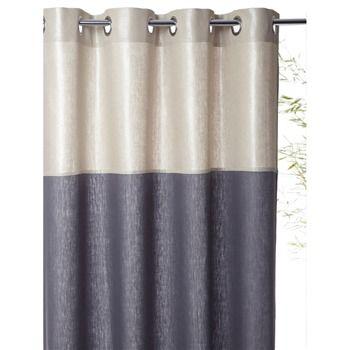 rideau en lin bicolore argent et ardoise cyrillus brandalley decor ideas pinterest. Black Bedroom Furniture Sets. Home Design Ideas