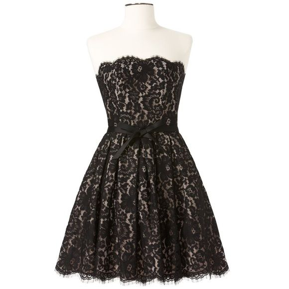 Neiman Marcus Target Black Beige Lace Prom Dress Target Black Lace Dress Robert Rodriguez Dress Black Lace Overlay Dress