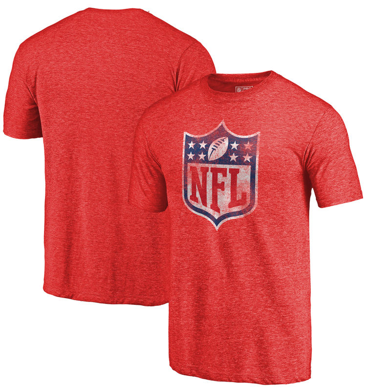 ae6812667 NFL Pro Line by Fanatics Branded NFL Shield Distressed Team Primary Logo  Tri-Blend Raglan T-shirt – Red
