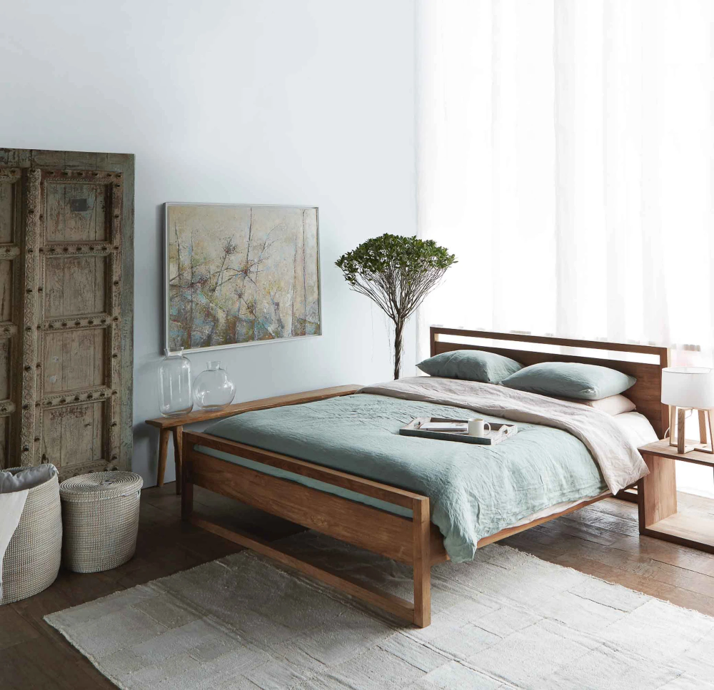 Teak Bed Frame Light Frame Bed Australia Size in 2020