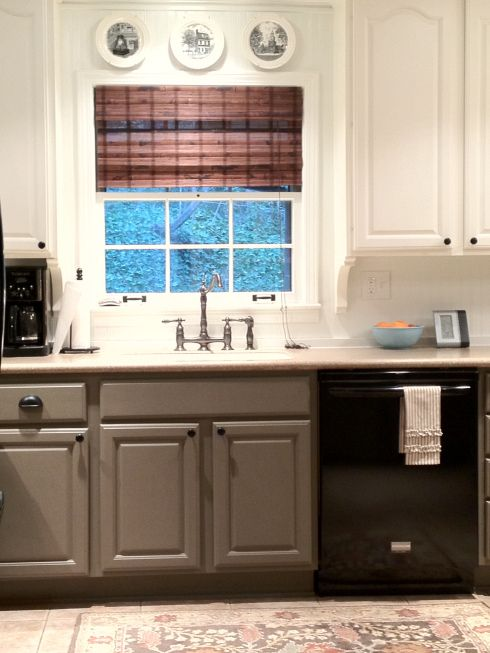 "Bottom #cabinets Valspar's ""safari Beige"" #paintcolor #valspar Entrancing Lowes White Kitchen Cabinets Decorating Inspiration"