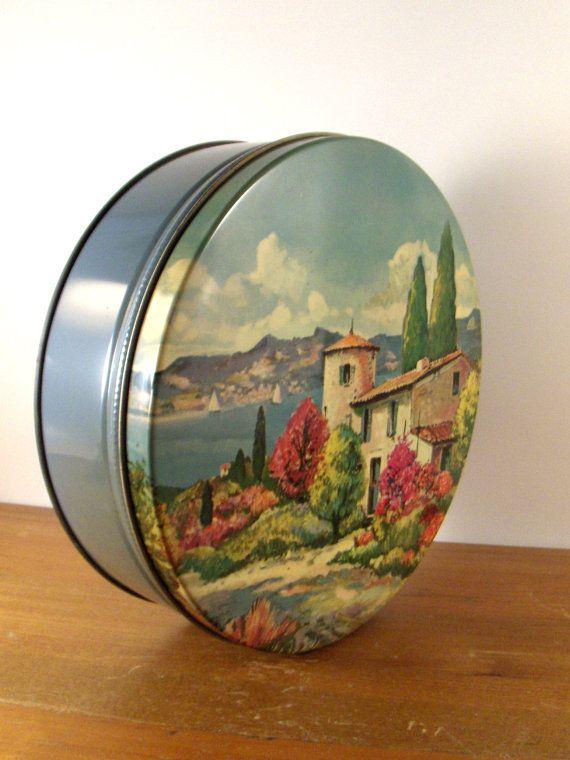Biscuit / Cookie Tin: Cottage Scene http://www.pinterest.com/victoradams/vintage-tin-boxes/