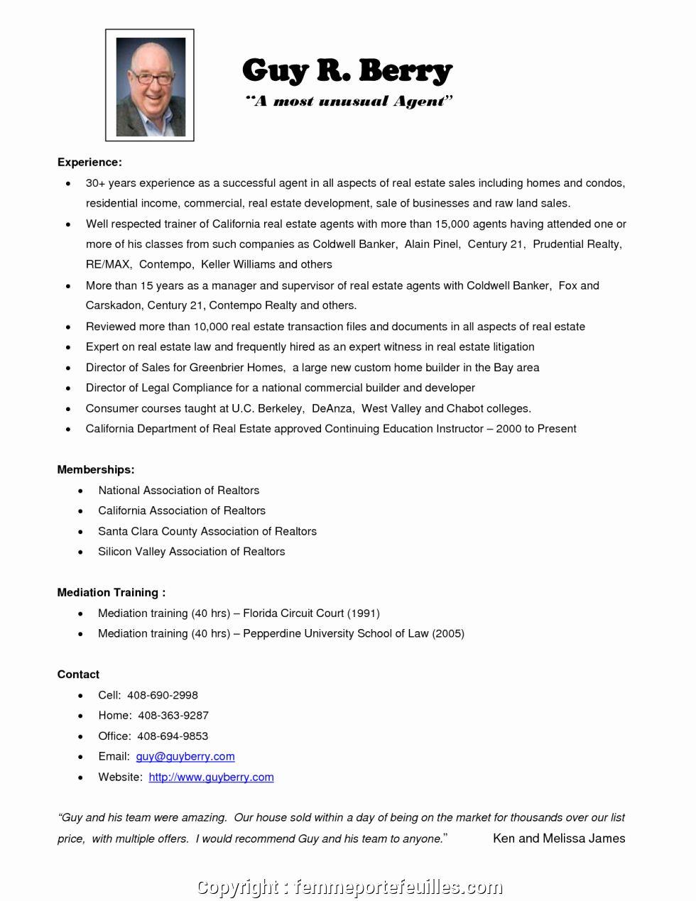 20 Real Estate Agent Resume Job Description in 2020 Good