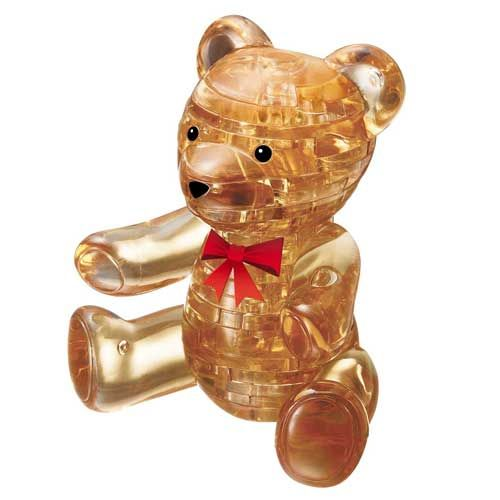 3d Crystal Puzzle Teddy Bear Gold Teddy Bear 3d Crystal Teddy