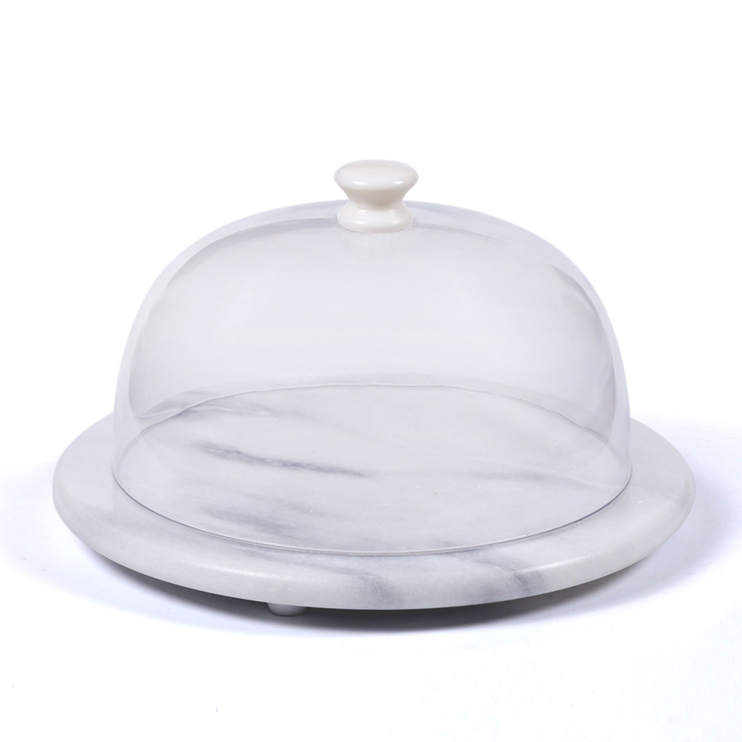 Creative home round cheese board with acrylic dome round