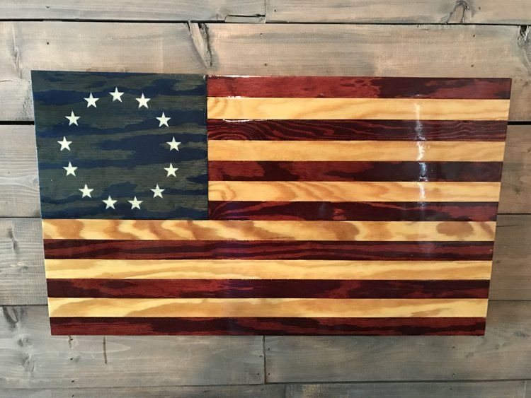 Handmade American Rustic Wooden Flags Veteran Made Woodworks American Flag Wood Wooden American Flag Staining Wood