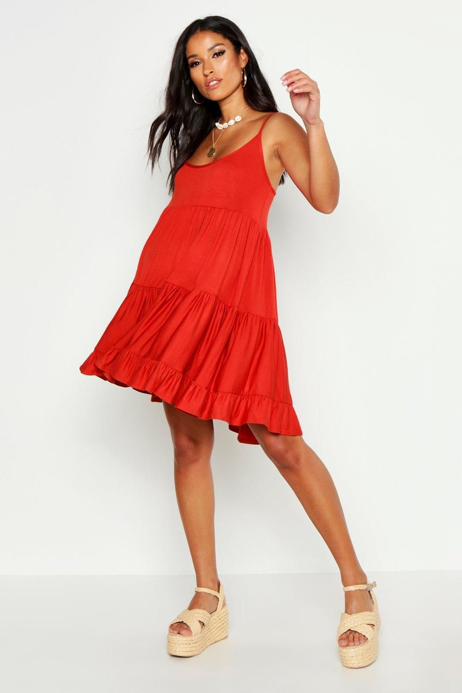 Maternity Tiered Beach Smock Dress Boohoo Smock Dress Summer Dresses For Women Dresses [ 1500 x 1000 Pixel ]
