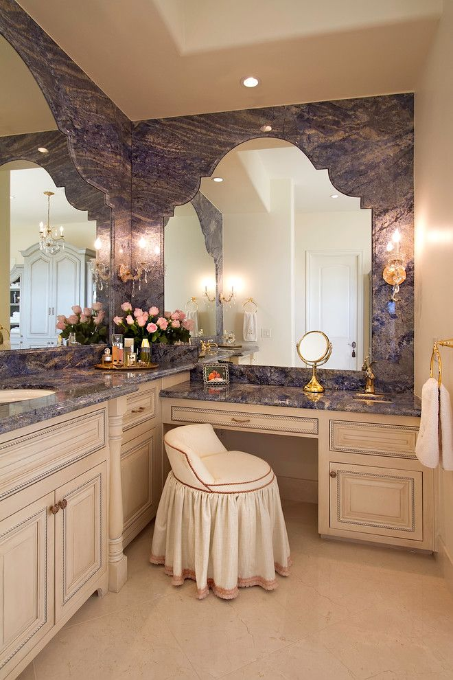 Longer Vanity With L Shaped Vanity In The Bathroom Eclectic