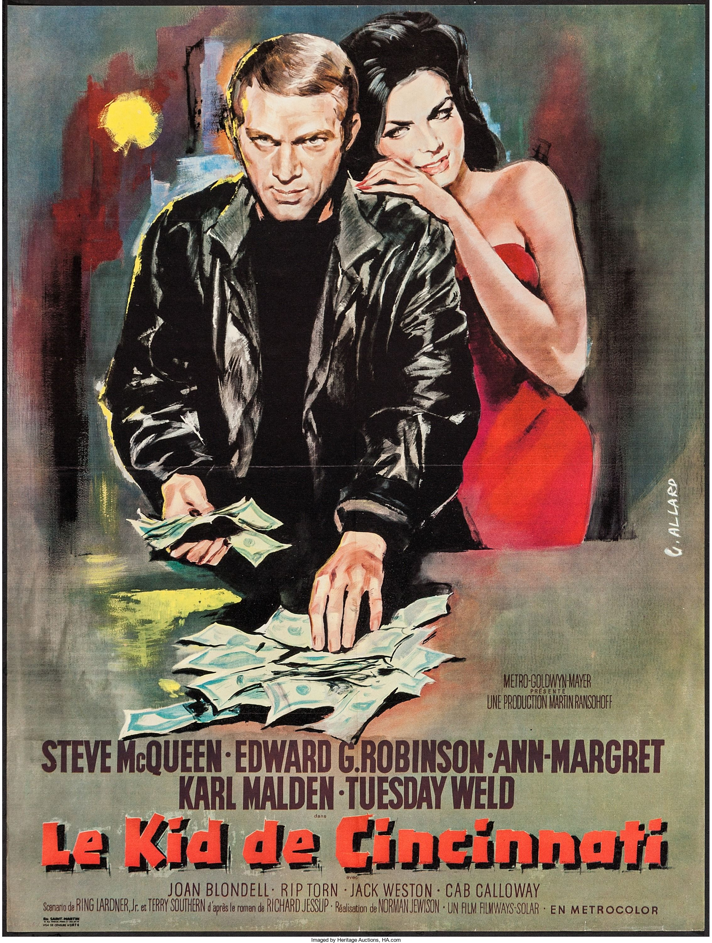 Home gt steve mcqueen porsche paintings - The Cincinnati Kid Mgm French Grande X Steve Mcqueen Is The Cool And Suave Available At 2015 November 21 22 Vintage