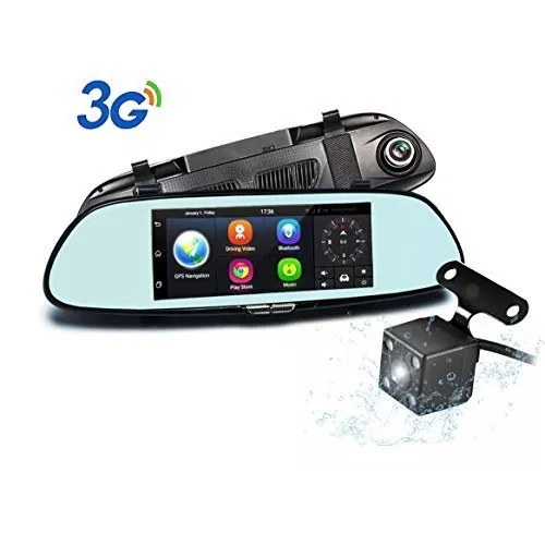 WDR Night Video /& Motion Detection Dual Camera Rotating Lenses /& Full HD Car DVR Video Recorders 60FPS G-Sensor Wide Angle 16GB SD Included Black Box M1000 Rearview Mirror Dash Cam